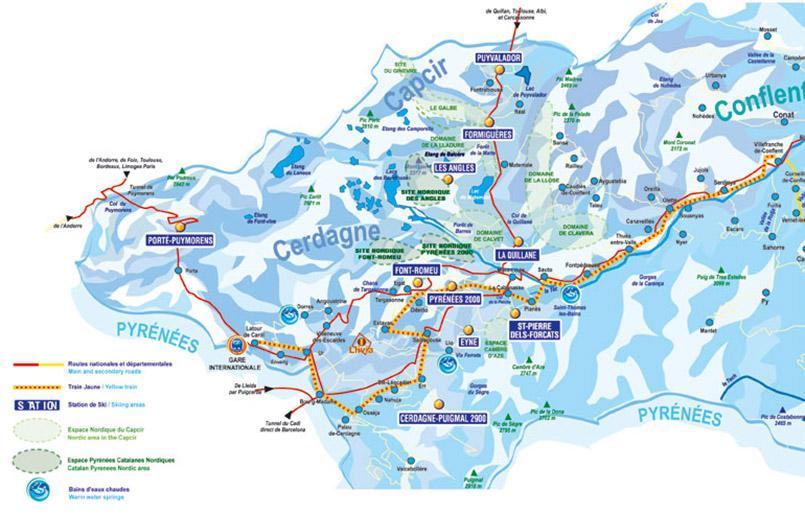 Die Skigebiete der Pyrénées-Orientales