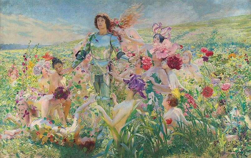 George Rochegross: Le Chevalier aux Fleurs aus dem Musée d'Orsay