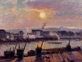 Camille PISSARRO (1831-1903), Quai de la Bourse, Rouen, Sunset, 1898, oil on canvas. © Collection Linda Gale Sampson