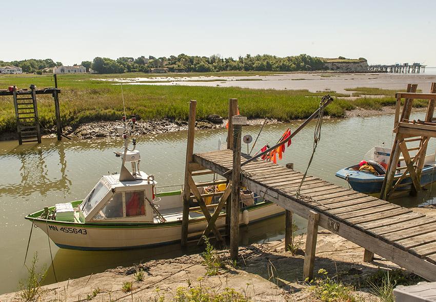 Der kleine Hafen von Talmont-sur-Gironde. Foto: Hilke Maunder