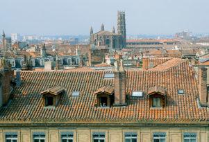 F_Toulouse_MSaint-Sernin_Innenstadt_Dächer©Hilke Maunder