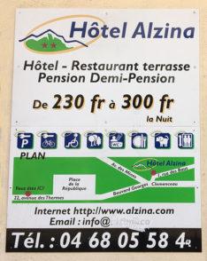 F_Vernet-les-Bains_22 Rue des Thèremes_Hotelwerbung_FF statt Euro_©Hilke Maunder